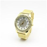 Fashion Geneva Women Dress Watches gold Full Steel Analog Quartz Ladies Rhinestone Wristwatches relogio feminino