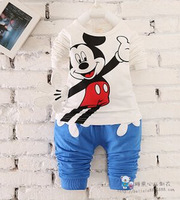 2015 spring children's smiling faces of fashion suits, children's two-piece long-sleeved t-shirt + pants 1011