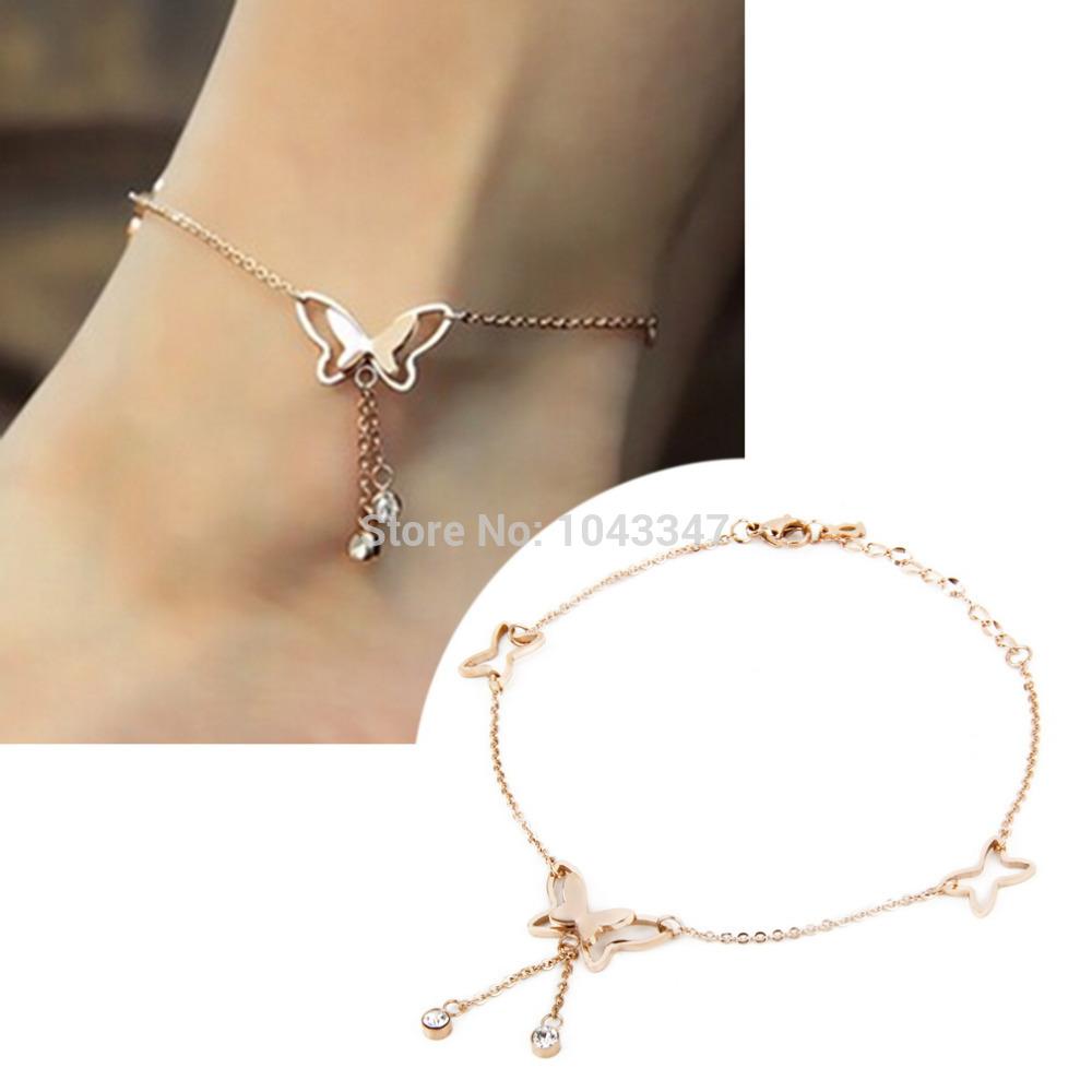 1pc Women Girl ladies Butterfly Tassels Sexy beach Anklet bracelet Foot Chain Anklet Bracelet Fashion Accessories