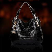 2015 new fashion female bag The crocodile grain handbag European and American leisure female bag bag, women messenger bag W158