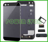 For iPhone 5G 5S Black Grey Alloy Metal Replacement Back Battery Housing Cover Case For IPHONE 5S Free Shipping
