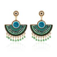 Fashion vintage Drop earrings bohemian style Sector-shaped red Resin tassel earring for women jewelry wholesale ER-019776