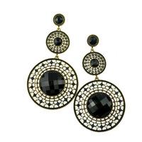 Fashion vintage Drop earrings bohemian European style round black long earring for women jewelry wholesale ER-07140