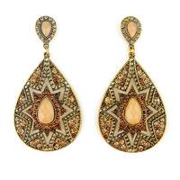Fashion vintage crystal Drop earrings bohemian European style drop-shaped Sunflower big earring for women jewelry ER-023058