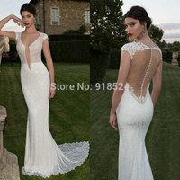 New Fashion Wedding Dresses Vestido De Noiva 2015 Spaghetti Straps Silk Chiffon Bride Gown Appliques Beach Wedding Dress