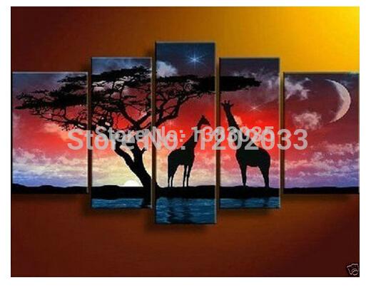 Painting African Animals Animal Giraffe Painting