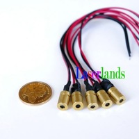 1pc 1mW 650nm 3-5VDC Focusable Red Laser Diode Dot Modules 6x18mm EU Standard