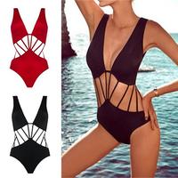 2015 Hot Summer new arrival Sexy Beauty womens One Piece 1 pc Beach Padded Bra Swimsuit Strappy Swimwear
