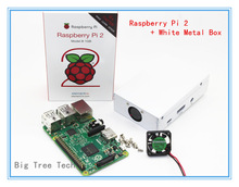 New Original Raspberry Pi 2 Model B Broadcom New Sliver Metal Box BCM2836 1G RAM 6