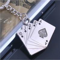 Quality metal poker keychain poker key ring keyrings fob promotion gift