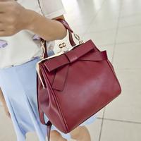 2015 hot selling women bag  vintage bow clip handbag messenger bag female bags