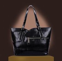 Women messenger bag of the new 2015 crocodile grain lash package Big two-piece one shoulder his women's handbag W156