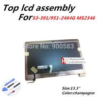 B133XTF01.0 B133XW03 V.3 V.0 screen For Acer S3-391/951-2464G MS2346 top lcd assembly led screen panel display upper half part