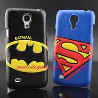 for Samsung Galaxy S4 mini i9190 case HOT 3D Batman Superman Leather case cover for samsung galaxy S4 mini i9190 Free Shipping