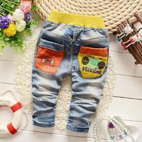 2015 new boys letter print denim pants / kids jean pants / fashion children jeans