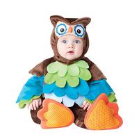 Newborn Toddler Infant Jumpsuit Fleece Owl Costume Kids Outfit Baby Boy Girl Child Romper + Hat + Bib + Shoes Clothing Sets 0-2Y