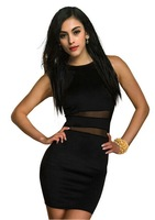 Sale free shipping  New arrival Women Ladies Sexy Mesh Mini Short Bodycon Ball Party Night Bandage sexy Club Dress Dresses