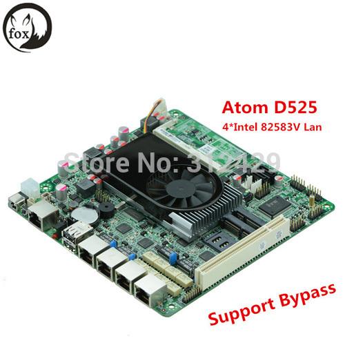 4 Lan Mini ITX Mainboard Firewall Motherboard Atom D525(China (Mainland))