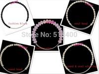 1lot =5pcs mixed Vnistar alex and ani beaded bracelet ,pink glass beads and round & oval metal beads bracelet VABB001