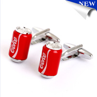 Red Coke Bottle Cufflink Cuff Link Free Shipping