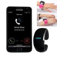 High Quality BT988 Smart Wristband Smart Alert Bluetooth 3.0 Bracelet Buzz Alarm Call For Iphone for HTC Smartphones Wristbands