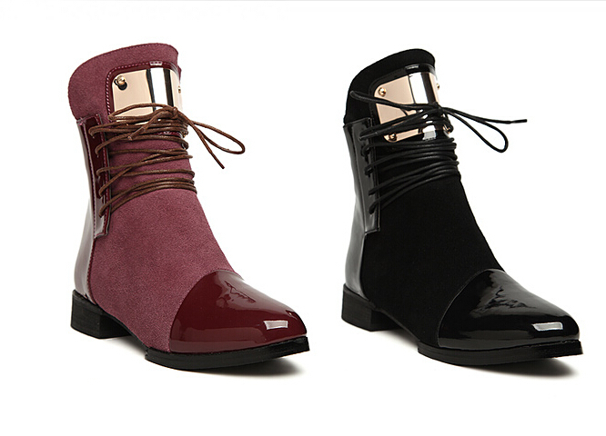 2015 New Fashion Sexy Designer Suede ankle boots botines mujer bottes femme(China (Mainland))