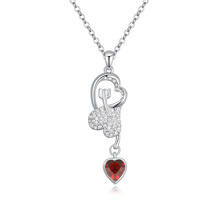 T112984 AAA grade crystal necklace– Cupid 's Arrow ( red )