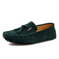 Men's Buckle Casual Suede Loafers Shoes