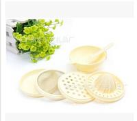 6 pcs/ set  Food processor grinder  Baby food grind group Filter Masher Juicer