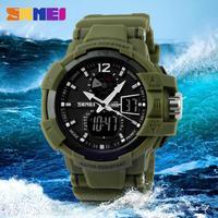 Fashion Outdoors Men Sports Watches SKMEI Digital LED Brand Quartz Multifunction Military Waterproof Clock Watches Elegant Wrist