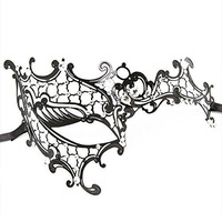 HALF FACE VENETIAN FILIGREE METAL MASQUERADE MASK BALL PROM FANCY DRESS HALLOWEE