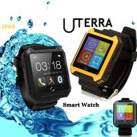 Uterra Bluetooth SmartWatch IP68 Waterproof Smart Warch Wristwatch Pedometer IPS Sync For iPhone 6 5s Samsung S5 Note 4 2015 New