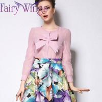 2015 Women Blouses Chiffon Bow Organza Blouse OL Long Sleeve High Quality Spring Summer Shirt Blusas Femininas Casual PH3026