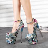 2015 New Arrival 7 Inch Designer Shoes Woman Pumps Red Bottom High Heels Sapatos Femininos Female Platform Women Shoes 8.5 A59