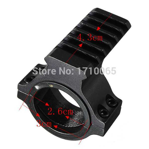 30mm Ring Scope Tube Flashlight Laser 20mm Weaver Picatinny Rail Mount Adapter Aluminum Hunting Accessories High Quality(China (Mainland))