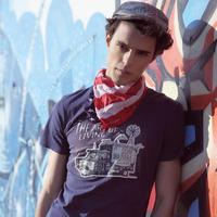 Patch Car Men's T-shirt 2015 New Brand Clothes Tops Tees Short sleeve Spring Summer O-Neck Euramerican Fashion Undershirt M-XXL