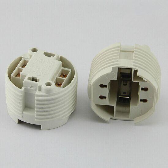 free shipping 4pin 2pin G24 LED Lamp Base Light Holder energy saving lamp aging lampholder(China (Mainland))