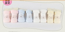 Free shipping 100 cotton Baby socks new born socks cartoon printed Cute Bear Pattern warm soft