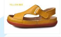 2015 Children shoes genuine leather cowhide sandals half hole single shoes casual comfortable summer boys sandals