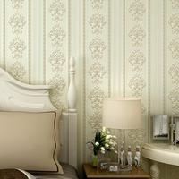 2015 non-woven wallpaper modern European vertical stripes backdrop living room bedroom den