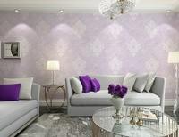 2015 Non-woven wallpaper 3D relief European retro living room bedroom