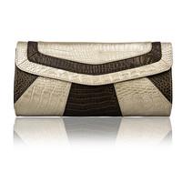 European style genuine leather clutch for women fashion serpentine party clutch purses one shoulder envelope clutch bag