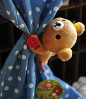 Plush toy 1pc 13cm little Rilakkuma Curtain buckle bandage tieback home decoration stuffed baby gift