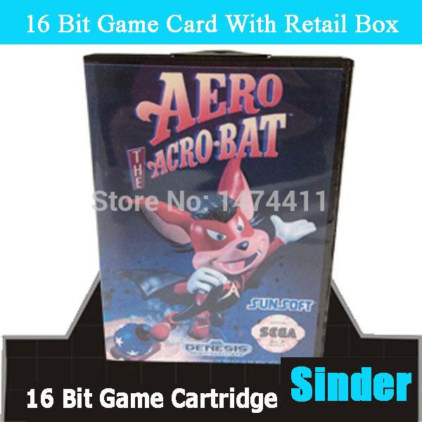 Sinder Acro 16 MD Sega Megadrive 16 bit game card sinder 2 16 md sega megadrive 16 bit game card
