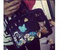 2015 new European and American fashion casual alligator pattern handbag pu leather vintage design  messenger bag