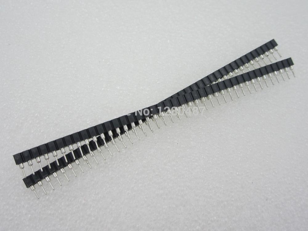 Free Shipping 10pcs 1x40 Pin 2.54 Round Female Pin Header connector(China (Mainland))