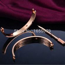 Pulseiras femininas amore braccialetto con cacciavite braccialetto femme per le donne gli uomini wristband carter oro rosa braccialetto vite braccialetto  (China (Mainland))