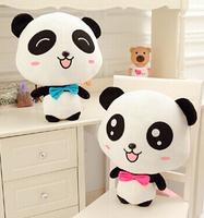Plush doll 1pc 35cm reunion cartoon panda couple lover hold pillow home decoration cushion stuffed toy children baby gift