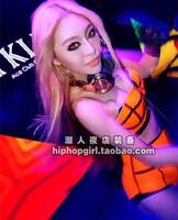 Female singer ds costume fashion sexy dj neon set