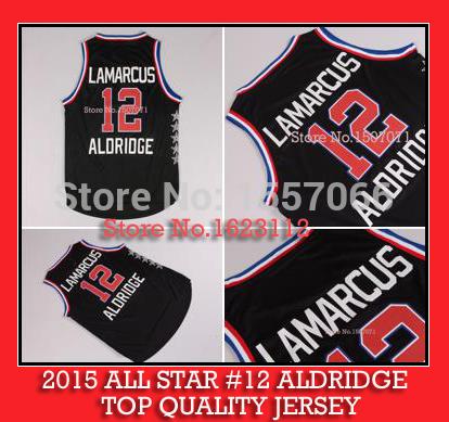 New Arrival!! 2015 ALL STAR western 12 Aldridge Basketball Jersey black Rev 30 Embroidery Logos Aldridge Jersey 2015 ALL STAR(China (Mainland))